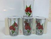 Lav Su Bardağı Kırmızı Çiçekler 6lı