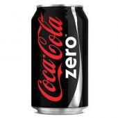 Coca Cola Zero Kutu Kola 330ml (24 Lü Koli)