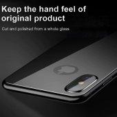 iPhone X Arka Kılıf 5D Renkli Temperli Kırılmaz Cam Koruyucu-11