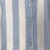 Vesyum Çizgili Arkası Uzun Mavi Gömlek-3
