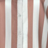 Vesyum Çizgili Arkası Uzun Gömlek-3