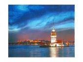 Dekoratif Led Işıklı İstanbul Kız Kulesi Kanvas Tablo Led Tablo-2