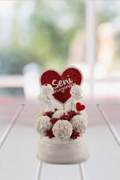 Angemiel Ölümsüz Çiçek Seni Seviyorum Kartlı...