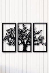 Angemiel Home Ağaç Üçlü Dekor Metal Duvar Tablo Ev Ve Ofis