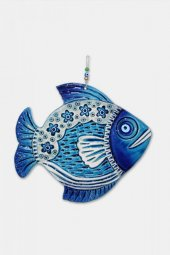Angemiel Home Seramik Nazar Boncuklu Mavi Balık No 2