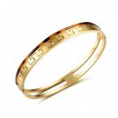 Angemiel Paslanmaz Çelik Özel Tasarım Bayan Bileklik Gold
