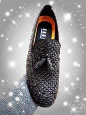 Erkek Ayakkabısı Püsküllü Siyah