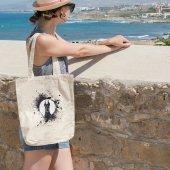Angemiel Bag Renk Damlası Siyah Köpek Alışveriş Plaj Bez Çanta