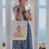 Angemiel Bag Pembe Tonlu Lama Alışveriş Plaj Bez Çanta