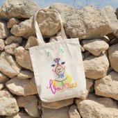 Angemiel Bag Pembe Tonlu Lama Alışveriş Plaj Bez Çanta-2