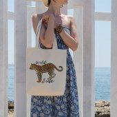 Angemiel Bag Wild Side Leopar Alışveriş Plaj Bez Çanta