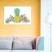 Angemiel Home Ananas Ve Çiçekler 20x30 Cm MDF Tablo