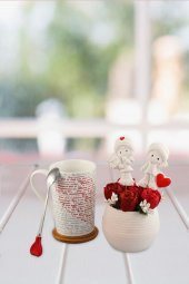 Angemiel Ölümsüz Çiçek Sevgi Kırmızı Gül 100...