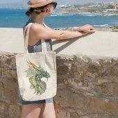 Angemiel Bag Yeşil Ejderha Bez Çanta