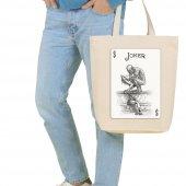 Angemiel Bag Büyük Joker Kartı Alışveriş Plaj Bez Çanta