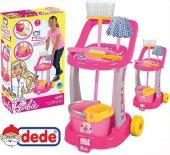 Barbie Temizlik Arabası Seti Eğitici Temizlik Arab...