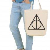Angemiel Bag Büyük Harry Porter Simgesi Alışveriş Plaj Bez Çanta