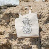 Angemiel Bag Alevli Kral Kuru Kafa Alışveriş Plaj Bez Çanta-2
