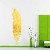 Dekoratif Duvar Dekorasyon Tüy Desen Ayna Pleksi-4