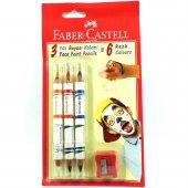 Faber Castell 3' Lü 6 Renk Yüz Boyası Kalemleri