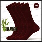Calverton 4lü Bambu Yazlık Erkek Çorap Tek Renk Desen