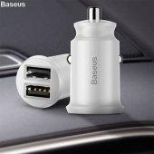 Baseus Mini Dual Usb 3.1a Max Çıkışlı Hızlı Araç Şarj Başlık