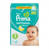 Prima Bebek Bezi Aktif Bebek Ekonomik Midi 45li