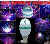 Renkli Disko Ampul Lambası Rengarenk Hareketli Amp...