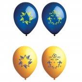 Atom Taraftar Balon Sarı Lacivert 12 İnç 100 Adet