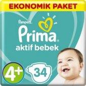 Prima Ekonomik Paket 4+ Beden Maxi Plus 10 15 Kg 34 Adet