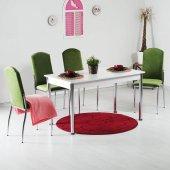 Evform Minosa Yeşil Kadife 4 Sandalyeli Mutfak...