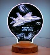 F35 Savaş Uçağı Kişiye Özel Uçak Led Lamba