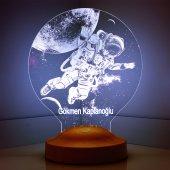 3d Led Lamba 3 Boyutlu Astronot Kozmonot Kişiye...