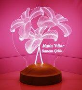 3d Led Lamba Yeni Yıl Hediyesi Çiçek Buketi Led...