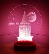 3d Led Lamba 3 Boyutlu Galata Kule Kişiye Özel...
