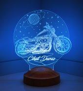 3d Led Lamba 3 Boyutlu Motosiklet Kişiye Özel...