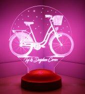 3d Led Lamba 3 Boyutlu Bisiklet Kişiye Özel...