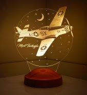 3d Led Lamba 3 Boyutlu Uçak Kişiye Özel Hediye...