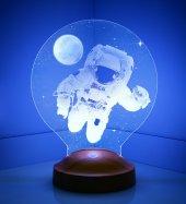 3d Led Lamba 3 Boyutlu Astronot Özel Hediye...