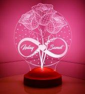 Sevgililer Günü Hediyesi Güller Sonsuzluk Kişiye Özel Gecelambası