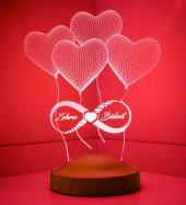 3d Led Lamba 3 Boyutlu Sonsuz Aşk Kişiye Özel...