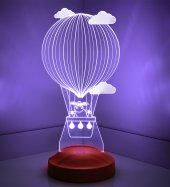 3D Led Lamba 3 Boyutlu Kuzulu Balon Bebek Hediyesi Lamba