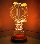 3D Led Lamba 3 Boyutlu Kuzulu Balon Bebek Hediyesi Lamba-2