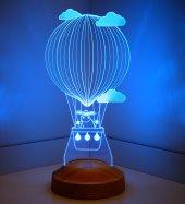 3D Led Lamba 3 Boyutlu Kuzulu Balon Bebek Hediyesi Lamba-3