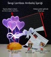 3D Led Lamba 3 Boyutlu Kuzulu Balon Bebek Hediyesi Lamba-4
