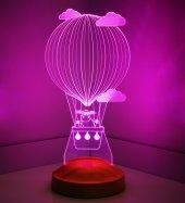 3D Led Lamba 3 Boyutlu Kuzulu Balon Bebek Hediyesi Lamba-5
