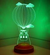 3D Led Lamba 3 Boyutlu Kuzulu Balon Bebek Hediyesi Lamba-6
