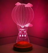 3D Led Lamba 3 Boyutlu Kuzulu Balon Bebek Hediyesi Lamba-7