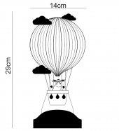 3D Led Lamba 3 Boyutlu Kuzulu Balon Bebek Hediyesi Lamba-8