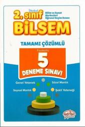 2. Sınıf Bilsem 5 Çözümlü Deneme Sınavı Editör...